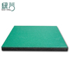 Rubber cushion for shock absorption particles in firing range