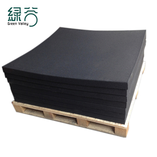 Full fine black rubber floor mat