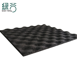 Centrifugal rubber sound insulation mat