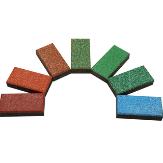 Reach Approved Rubber Floor Pathway Tiles for Park