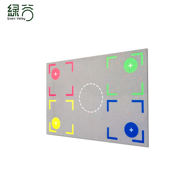 Rubber basketball mat