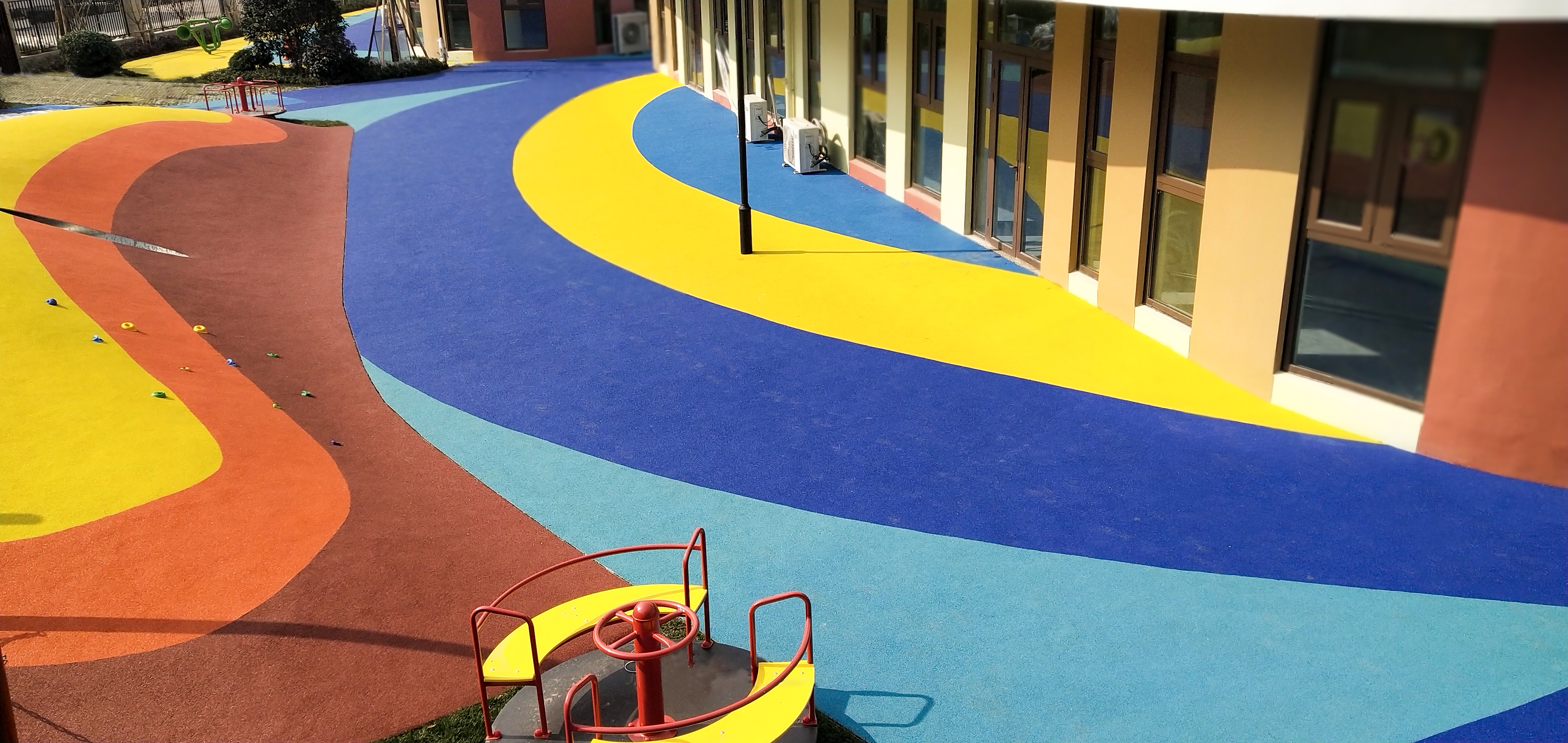 EPDM colorful rubber granules for kindergarten