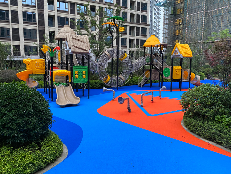 Colorful EPDM rubber floor granules for kindergarten