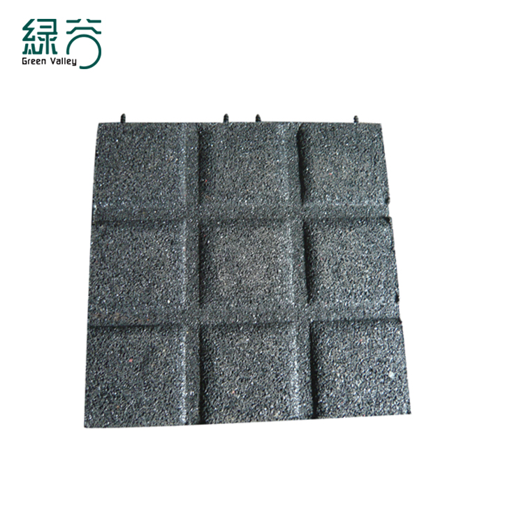 Kindergarten Rubber Brick Floor Outdoor Playground Rubber Tile Flooring